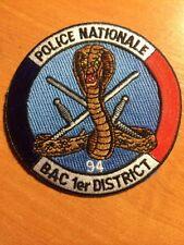 PATCH POLICE FRANCE  BAC 94 SWAT