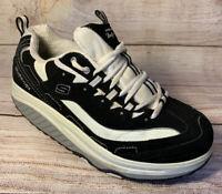 Skechers Shape-ups Black White Womens US 8.5 Toning Walking Sneakers Shoes 11809