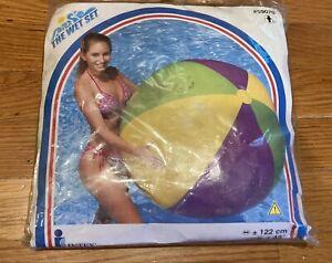 """Vintage 2000 Intex The Wet Set 48"""" Jumbo Ball Inflatable Vinyl Beach Ball 59070"""