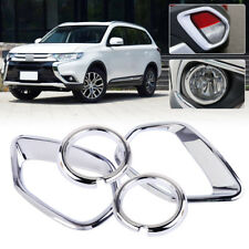 ABS Front Rear Fog Light Lamp Cover Trim Fit for MITSUBISHI Outlander 2016 2017