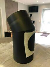 Rauchrohr Ofenrohr DN 200 mm Stahl Winkel 30° Grad Tür mm Grau Jeremias ////2.Wahl