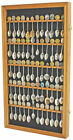 60 Spoon Display Case Rack Holder Cabinet Shadow Box Wall Rack LOCKABLE SP02-OA