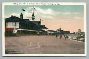 """""""They Are Off"""" Latonia Race Track COVINGTON Kentucky~Antique Horse Racing 1920"""