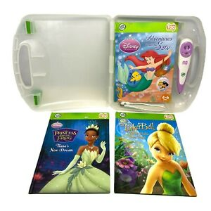 Leapfrog TAG Disney Princess Girl Bundle w/ Purple Pen, 3 Books, Case, USB Cable