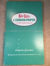 Vintage Box of Kee Lox Carbon Paper for Typewriter Rochester NY USA 8 1/2 X 14