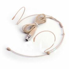 Condenser Headset Microphone With Mini 3 Pin XLR Connector for Shure AKG Mic