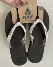 REEF Women's Star Cushion Sassy Sandal - NEW w/tags - Color BROWN/WHITE - SIZE 8