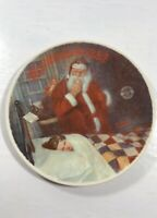 Norman Rockwell Society of America 1986 Dear Santy Claus Christmas Plate Decor