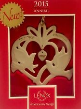 Lenox 2015 Our First Christmas Together Holiday Ornament Doves China 853552 New