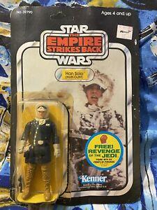 Vintage Star Wars 1982 Empire Strikes Back Hoth Han Solo 48 Back MOC - Unpunched