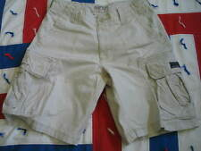 MEN'S Aeropostal Authentic Airbone Division Cargo Shorts Ivory In color W 32