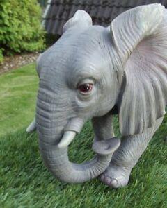 Gartenfigur Elefant stehend 3505 Haus Garten lebensecht Figur