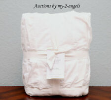 NEW Pottery Barn HADLEY RUCHED Cotton Voile King Duvet Cover WHITE *beautiful