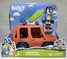BLUEY Heeler 4WD Family Vehicle Includes Bandit Figure And Surfboards