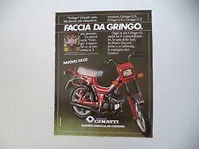advertising Pubblicità 1983 CIMATTI GRINGO GT 50