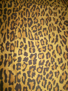 Ralph Lauren Twin Flat Sheet Aragon Neutral Leopard Print Cheetah Color Defects