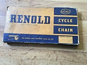 "RENOLD ELITE Cycle Chain 1/2"" x 1/8"" pitches 110 England NOS."