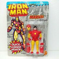 1991 Toy Biz Marvel Super Heroes IRON MAN Quick Change Armor Action Figure MOC