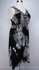 STYLE & Co. WOMEN'S PLUS SIZE BLACK WHITE EMBELLISHED SLEEVELESS DRESS Sz 0X