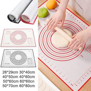 Non-Stick Kitchen Rolling Dough Pad Silicone Baking Mat Pastry Kneading PadB.bu