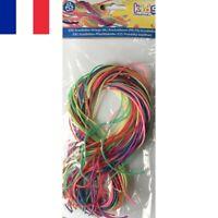 Lot de 25 pcs Fils Scoubidou Scoobidoo Multicolores 90 cm pour Bijoux Bracelets