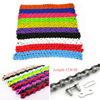 Bicycle Bike Chain Single Speed 1/2''x1/8'' Colours MTB BMX Fixie Fixed Gear US