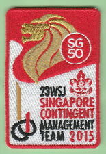 2015 world scout jamboree Japan / SINGAPORE Contingent CMT patch badge