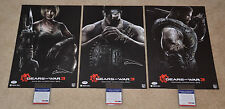 2010 Comic Con Gears of War 3 Autographed Posters Set LE 1 of 100 PSA Authentic