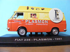 Fiat 238 Van  1:43 scale model  with plinth and cover