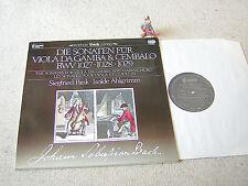BACH Sonaten für Viola Da Gamba & Cembalo PANK AHLGRIMM GER LP CAPRICCIO DIGITAL