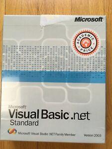 Microsoft Visual Basic .NET Standard, Version 2003, NEW in original wrap