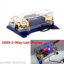100A 2Way Fuse Block with LED Display Car Audio Power Electrical Grounding Cable