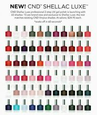 NEW CND Shellac Luxe 60 Sec Removal Gel Polish 0.42oz You Choose Color