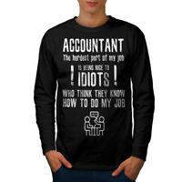 Wellcoda Accountant Problems Mens Long Sleeve T-shirt, Funny Graphic Design