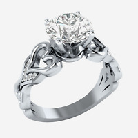 Elegant 925 Silver Jewelry Round Cut White Sapphire Women Wedding Ring Size 6-10