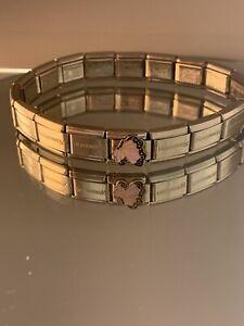 Genuine Nomination 17 Link Bracelet Plus Enamel Butterfly Link  - Silver #W/6