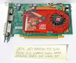 Dell ATI RADEON HD 3650 PCIe X16 Graphic Video Card 256 MB DDR3 DVI HDMI DP