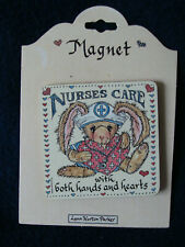 "Monarch Creations Magnet - ""Nurse's Care with both hands and hearts"" - Parker"