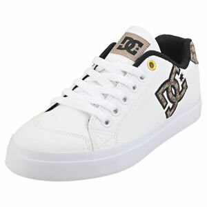 DC Shoes Chelsea Plus Se Sn Womens White Tan Casual Trainers - 7 UK