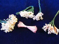 Vintage Millinery Flower Stamen Collection Pink Shades H3108