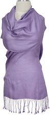 Seidenschal Uni Flieder handgewebt 100%Seide silk scarf Lilac stole Foulard soie