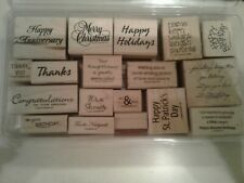 Lot of 18 Stampin Up Word/ Phrases Stamps