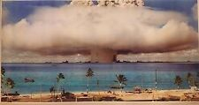 "Operation Crossroads GIANT WIDE 24"" x 46"" Poster Baker Nuclear Test Bikini Isla"