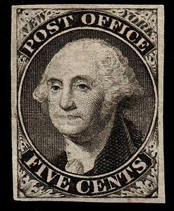 US #9X1e 1845 Provisional. Mint No Gum/No Signature/PF Cert, XF. KP-008