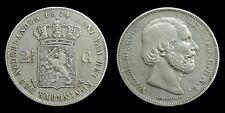 Netherlands - 2½ Gulden 1874 (klaver) Zeer Fraai-