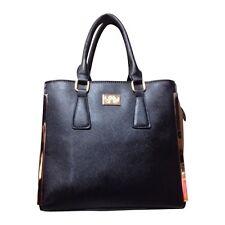 Borsa A Mano Blu Scuro Con Marrone i lati Ultra High Fashion Bag molto molto più recente Arrivo