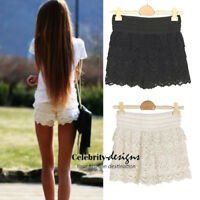 High Waisted Crochet Shorts White Australia Elastic Waistband Blogger Style