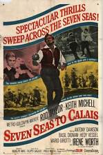 SEVEN SEAS TO CALAIS Movie POSTER 27x40 Rod Taylor Keith Michell Edy Vessel