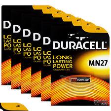 6 x Duracell Alkaline MN27 12V batteries A27 GP27A E27A EL812