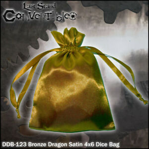 LAST STAND CONVERTIBLES - Bronze Dragon Satin 4x6 Dice Bag